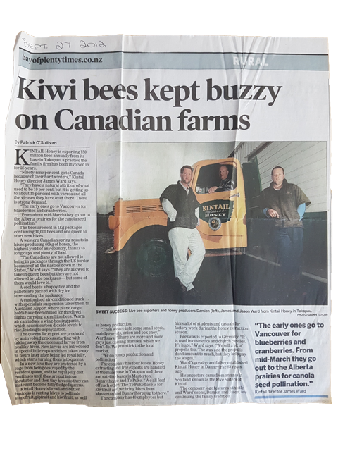 Buzzy on Canadian farms